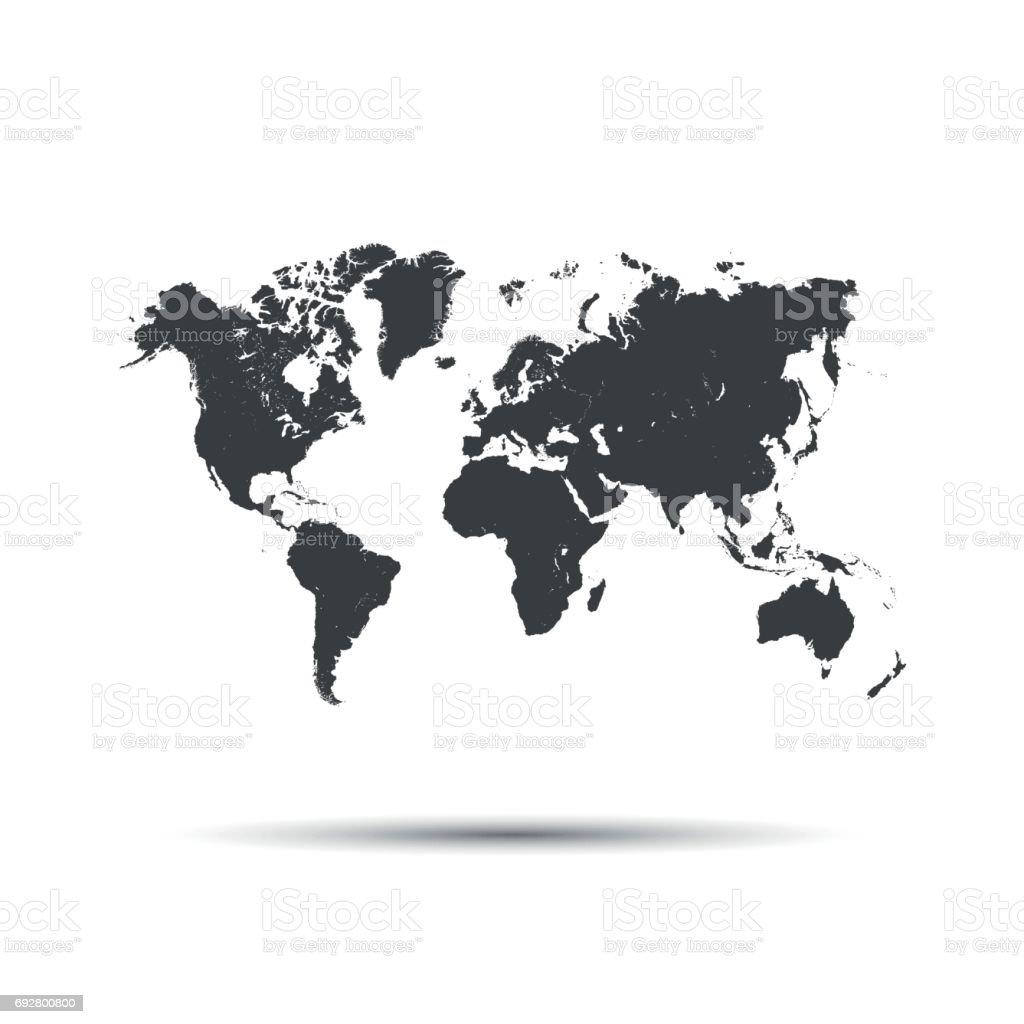 Map Of The World Simple.Simple Vector Icon Map Of The World Stockowe Grafiki Wektorowe I Wiecej Obrazow Abstrakcja