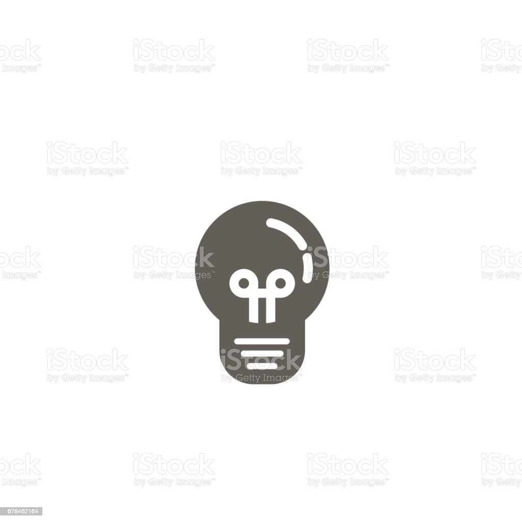 Simple vector icon of a bulb. Traditional round form. Black and white royalty-free simple vector icon of a bulb traditional round form black and white stock vector art & more images of bright