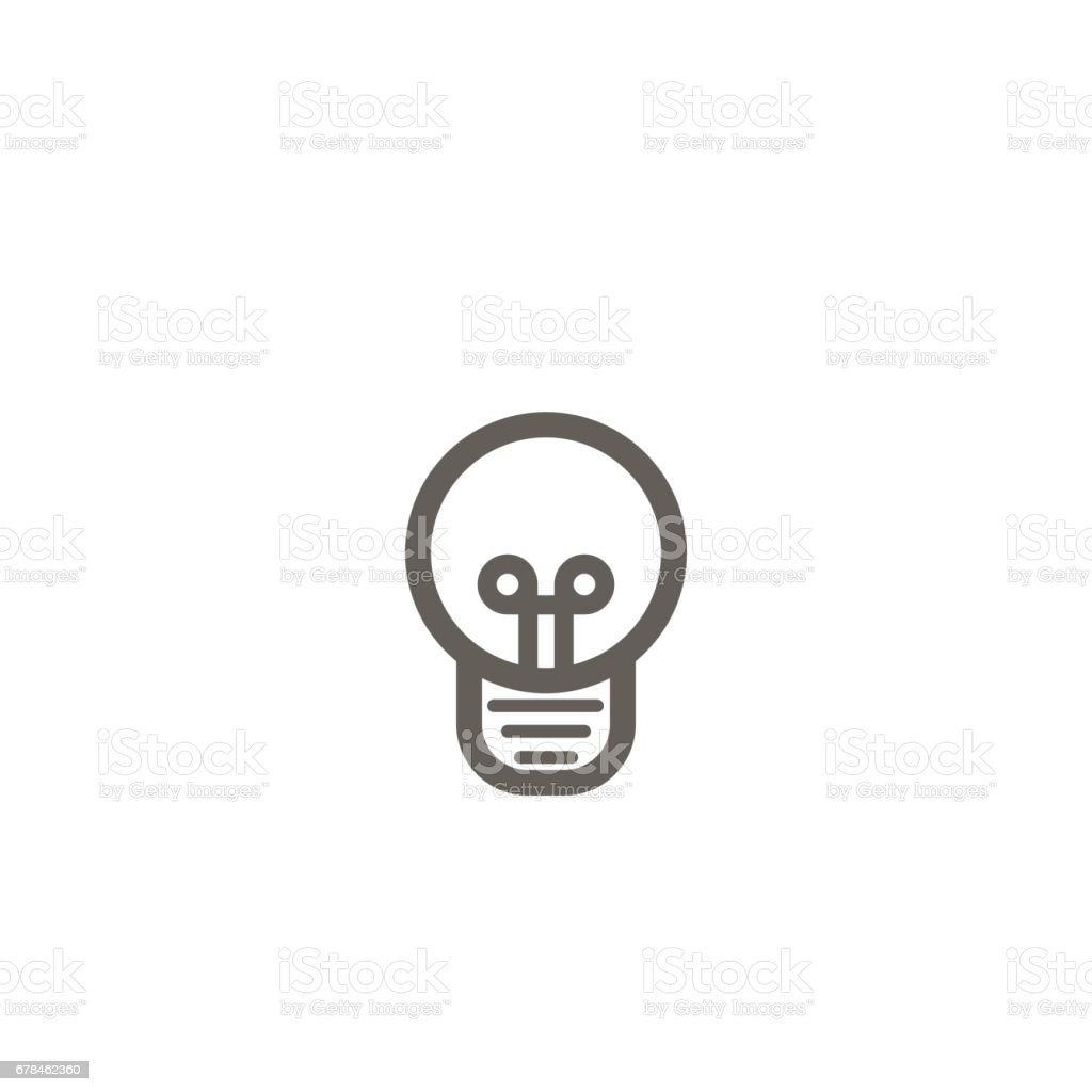 Simple vector icon of a bulb. Traditional round form. Silhouette. royalty-free simple vector icon of a bulb traditional round form silhouette stock vector art & more images of bright
