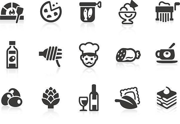 einfachen vektor-icons von italienischen - tiramisu stock-grafiken, -clipart, -cartoons und -symbole