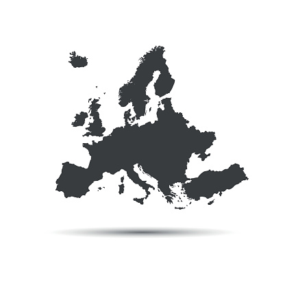 Simple vector illustration map of European Union