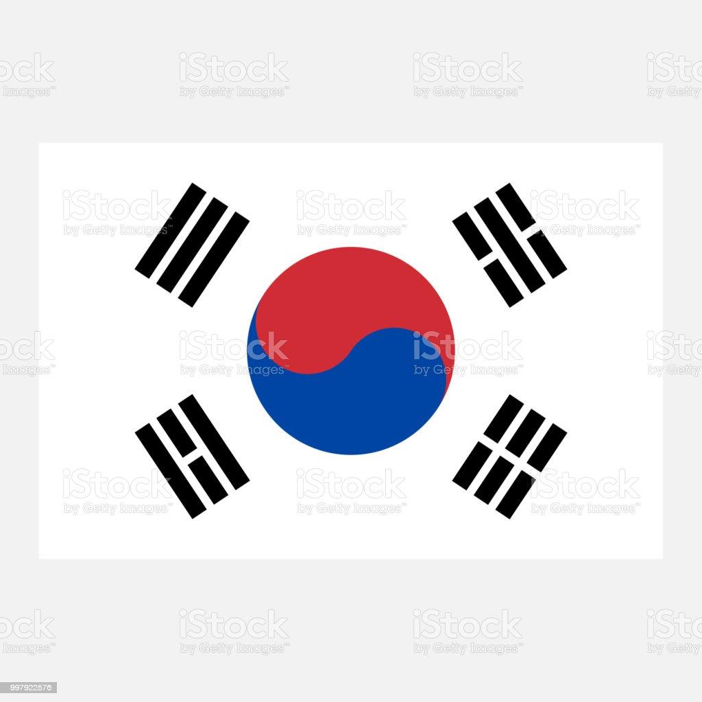 simple vector korean flag for your infographics documents and rh istockphoto com korean flag vector art korea flag vector download