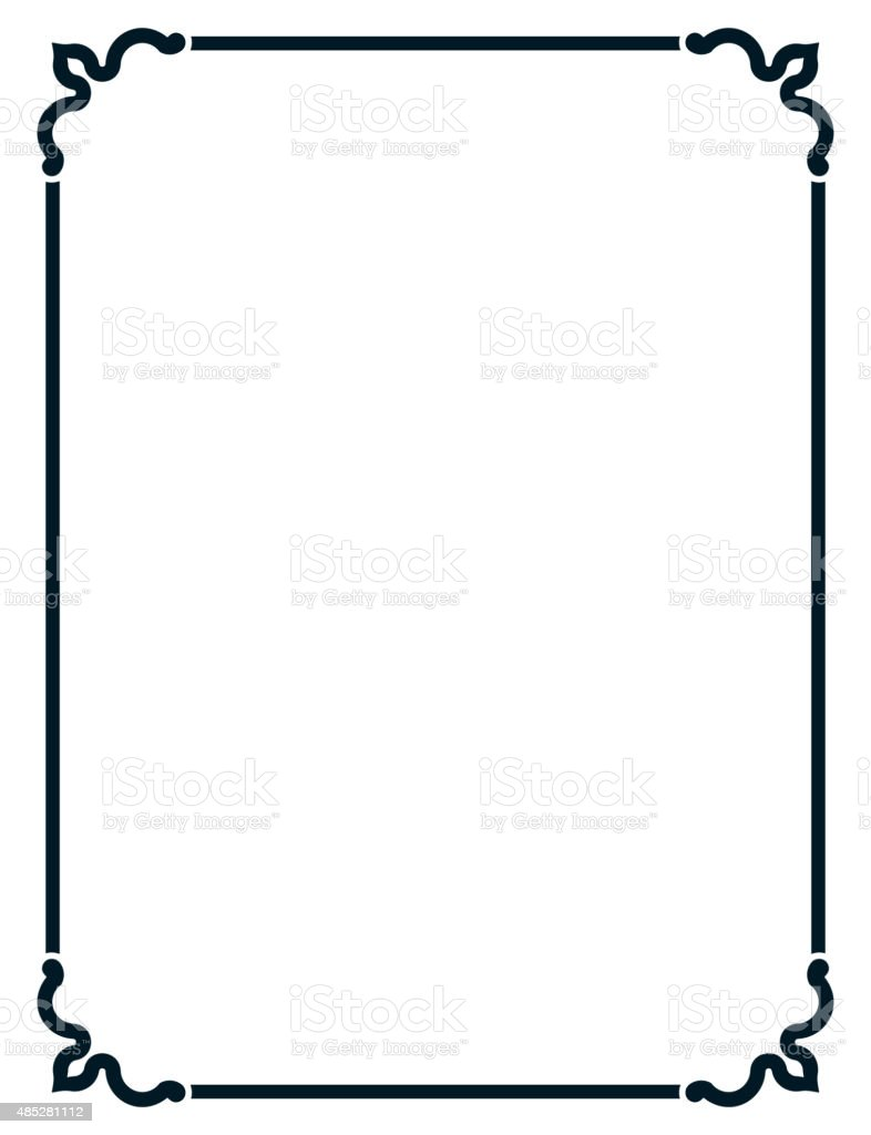 simple frame border. Simple Vector Line Border Frame Isolated Illustration Royalty-free N