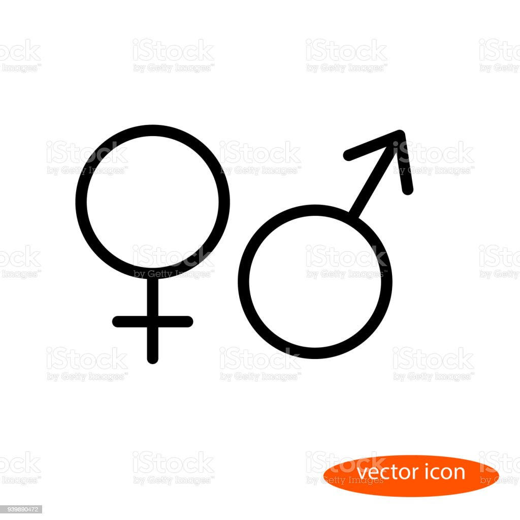 Simple Vector Linear Image Of The Symbols Of Female And Male