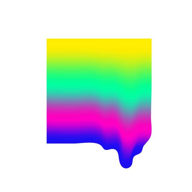 Einfache Vektor Flüssig Gradient Form. Trendiges universelles minimalistisches Objekt – Vektorgrafik