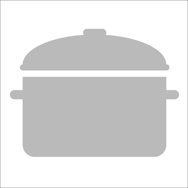 illustrations, cliparts, dessins animés et icônes de simple vecteur d'un pot gris parfait pour cet hiver. - cuisine espagnole