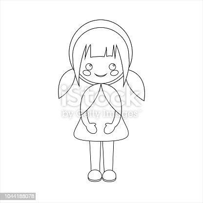 Ilustración de Simple Vector De Posición De Caperucita Roja Con Un ...