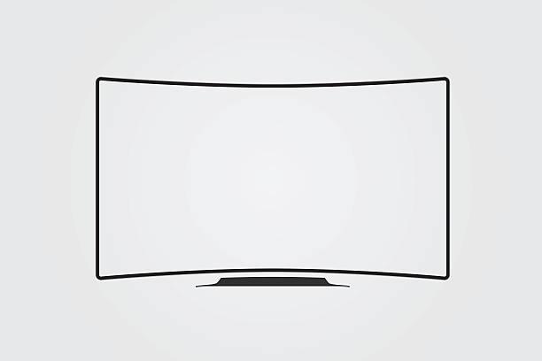 Simple vector of TV screen. vector art illustration