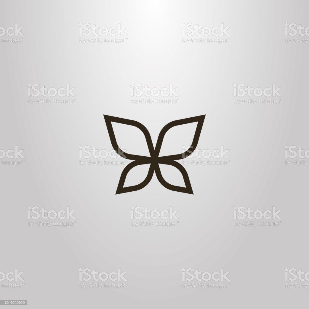 翼を蝶々 羽ライン アートの簡単なベクトル アウトライン記号 アイコン