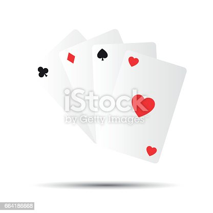 istock Simple vector playing cards isolated on white background 664186668
