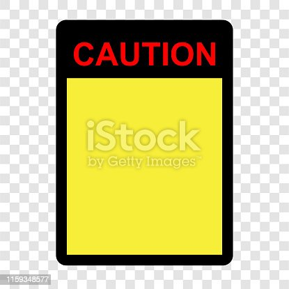 istock Simple Vector sign, Blank Caution at transparent effect background 1159348577