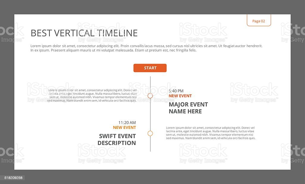 Simple Vertical Timeline Template Stock Vector Art & More