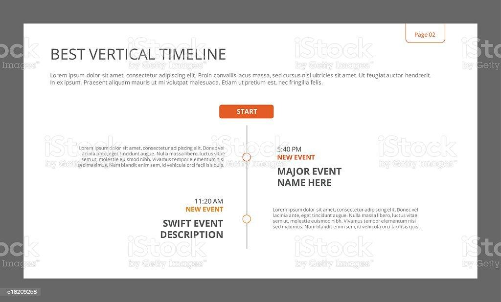 シンプルな縦スケジュールテンプレート イラストレーションのベクター