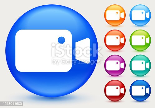 istock Simple Video Camera Icon 1218011603