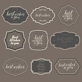 Vector of simple vintage frames and design elements. EPS ai 10 file format.