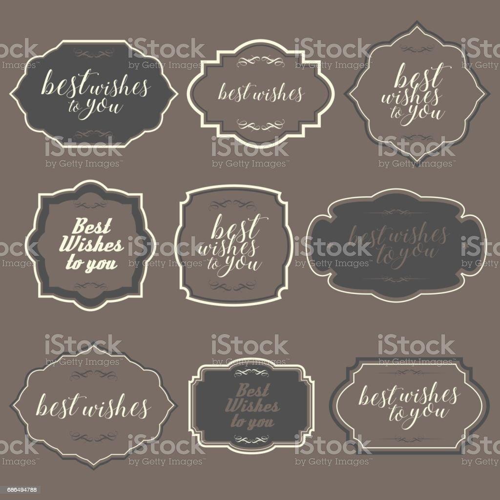 Marcos Vintage simples y elementos de diseño - ilustración de arte vectorial