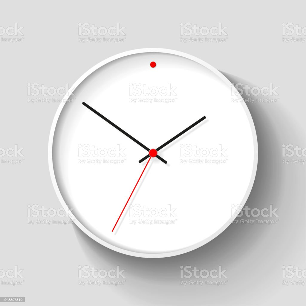 Simple wall clock in realistic style minimalistic timer on light simple wall clock in realistic style minimalistic timer on light background business watch with ccuart Image collections