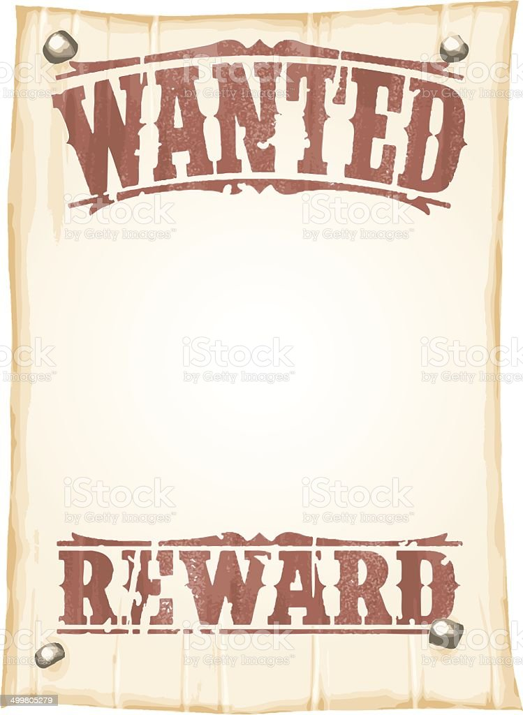 Simple Wanted Poster Stock Vector Art & More Images of Abundance ...