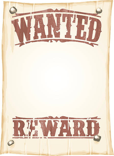 simple wanted poster vector art illustration