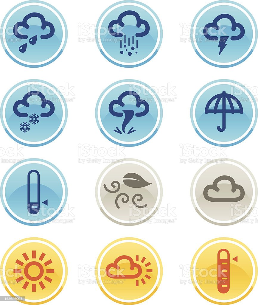 Simple Weather Icons royalty-free stock vector art