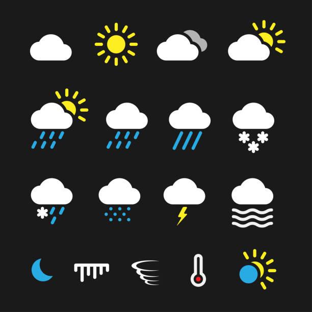 illustrazioni stock, clip art, cartoni animati e icone di tendenza di simple weather icons - grandine