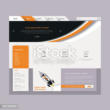 istock Simple Website Template For Your Business 532263530