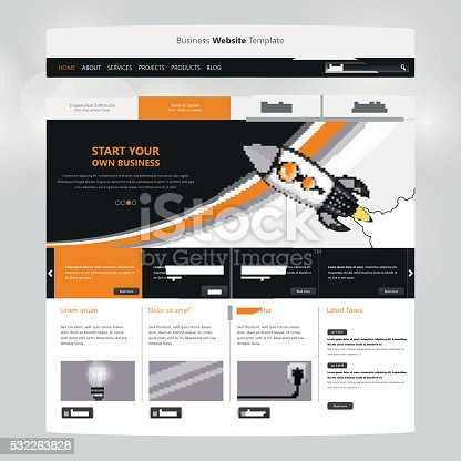 istock Simple Website Template For Your Business 532263828