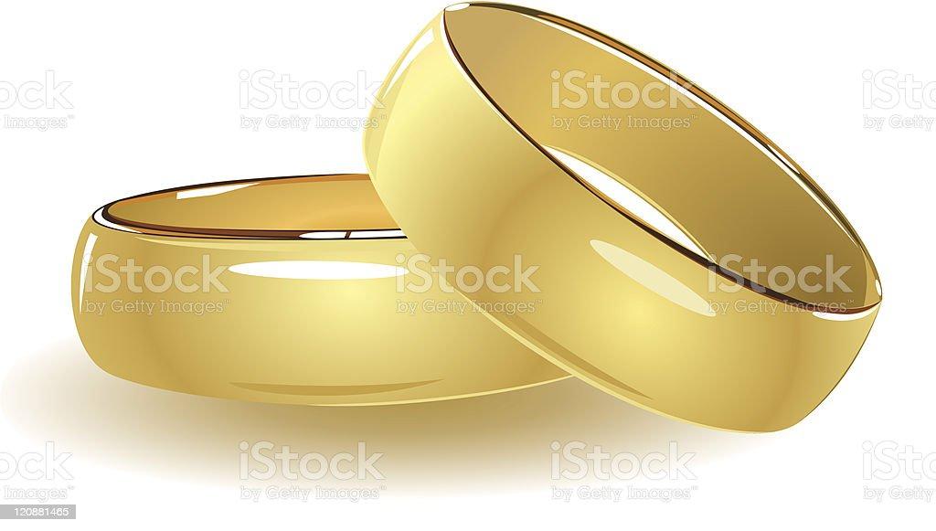 Einfache Hochzeitsringe Vektor Illustration 120881465 Istock