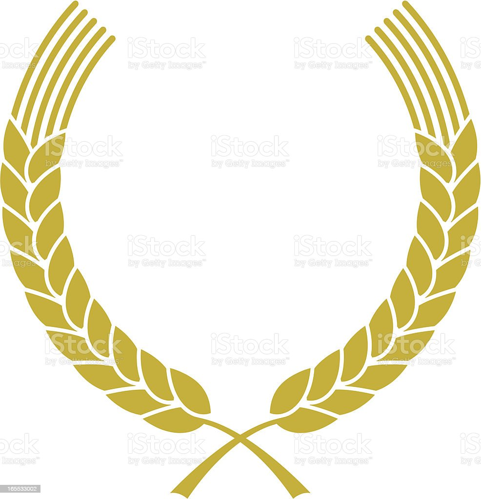 Simple wheat wreath royalty-free stock vector art