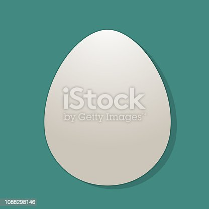 A simple white egg illustration. With EPS 10 File, easy to edit and use
