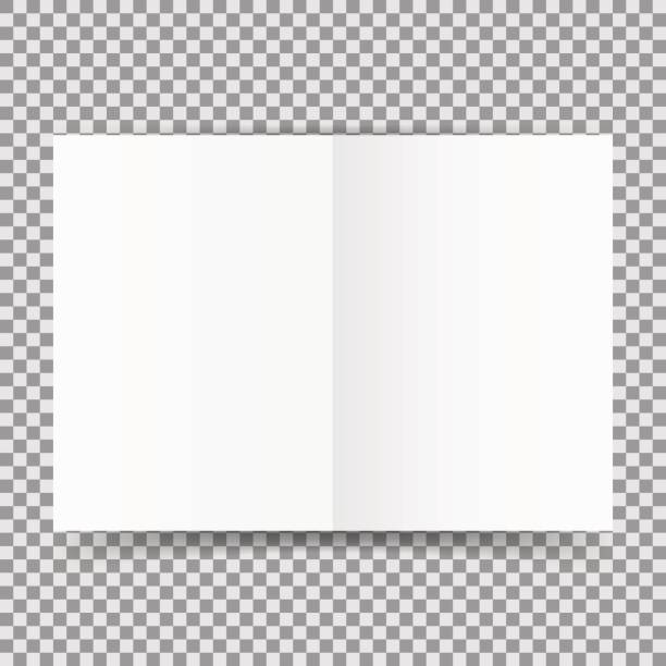 Simple white open card template isolated on transparent background. Vector illustration. vector art illustration