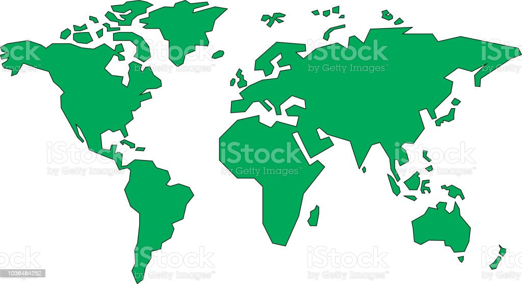 simple world map stock vector art more images of africa 1036484252