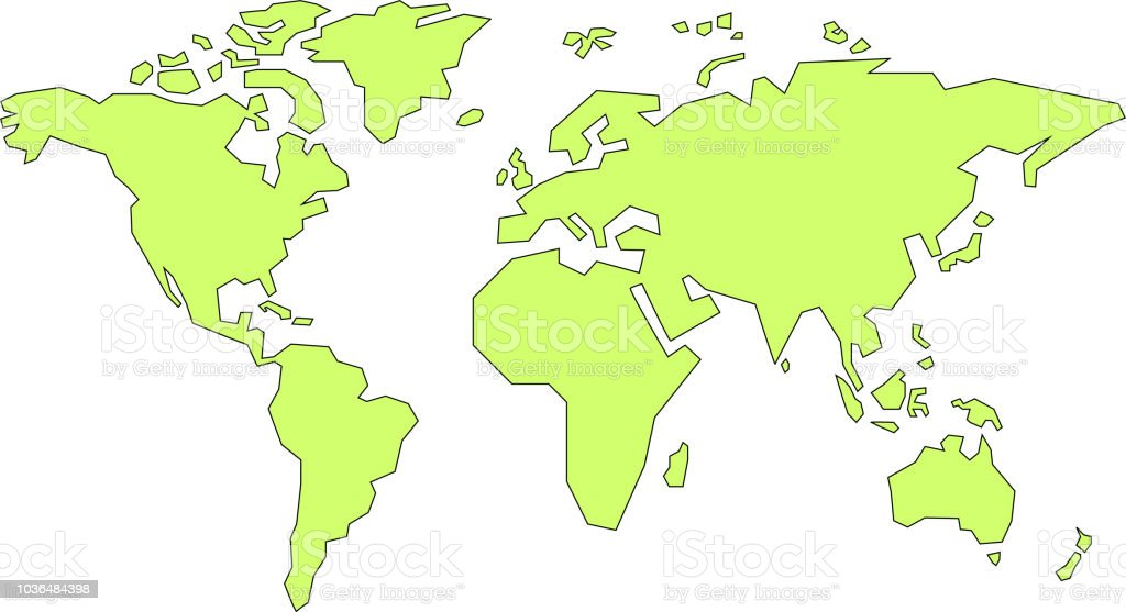 simple world map stock vector art more images of africa 1036484398