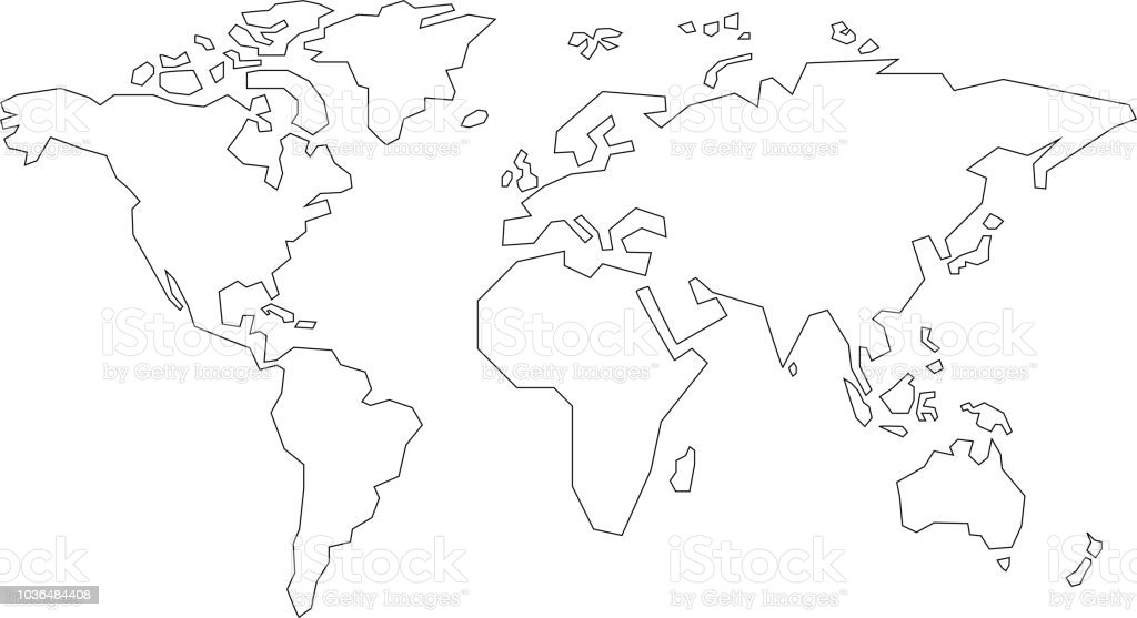 simple world map stock vector art more images of africa 1036484408
