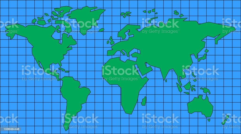 simple world map stock vector art more images of africa 1036484448