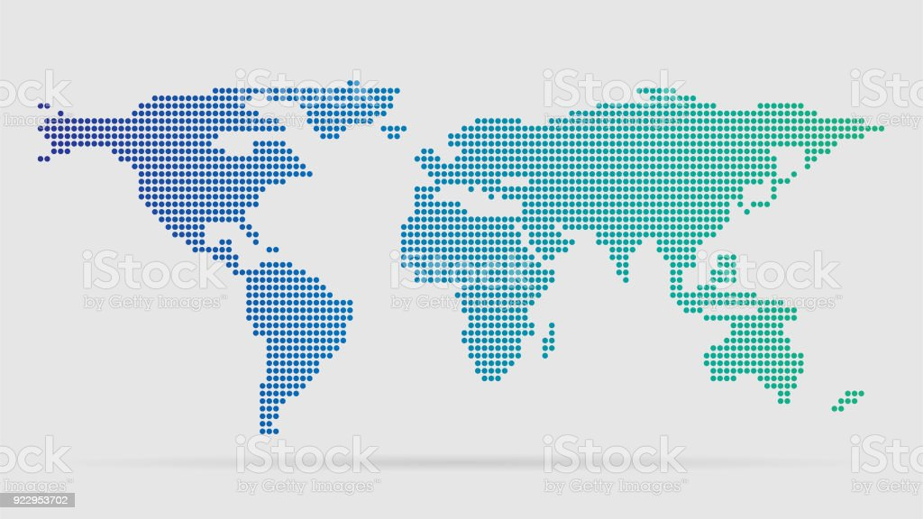 Basit Dünya Haritası vektör sanat illüstrasyonu