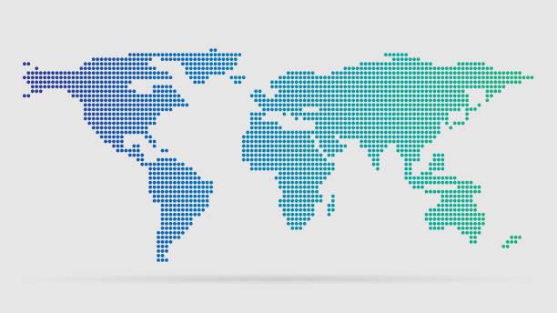 Simple world map vector art illustration
