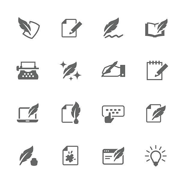 einfaches schreiben symbole - computergrundlagen stock-grafiken, -clipart, -cartoons und -symbole