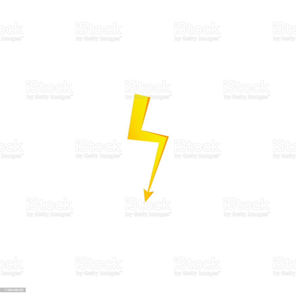 Simple Yellow Thunderbolt Icon Thunder Bolt And High Voltage Sign Stock Illustration Download Image Now Istock