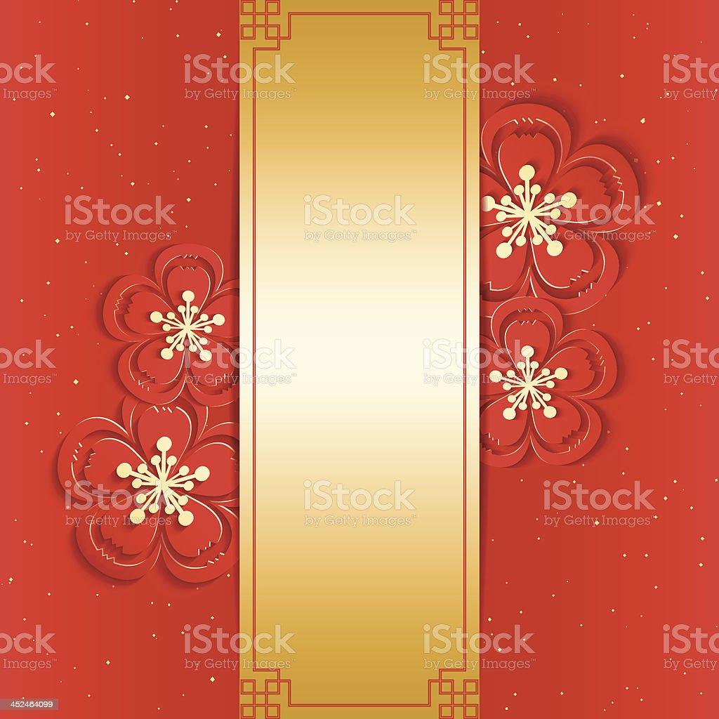 Simple yet Beautiful Chinese New Year Greeting Card vector art illustration