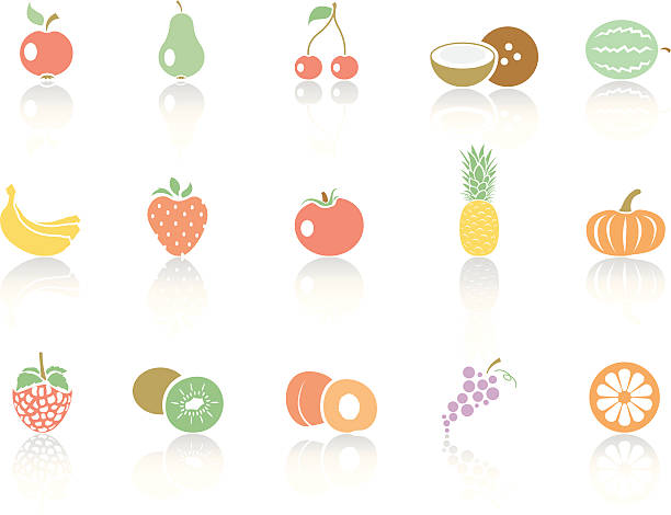 simplecolor – fruits - cherry tomato stock illustrations