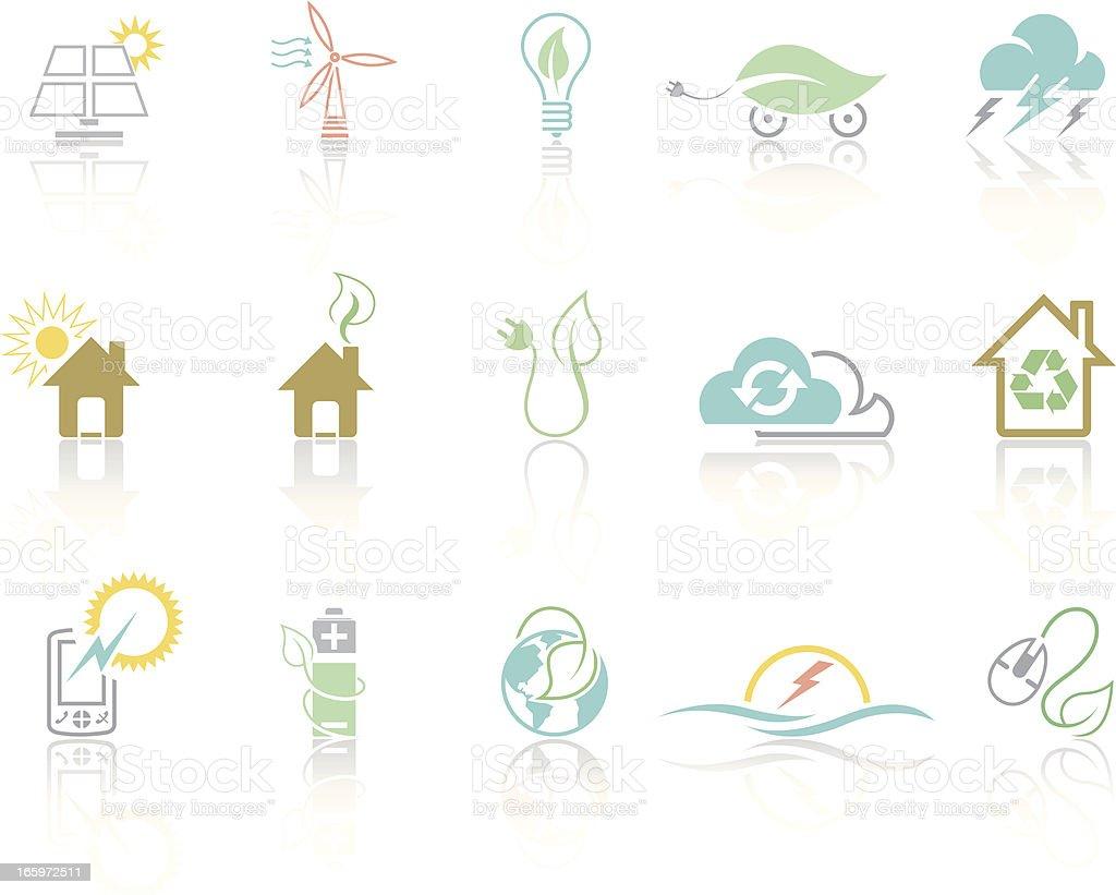 Simplecolor – Green energy royalty-free stock vector art