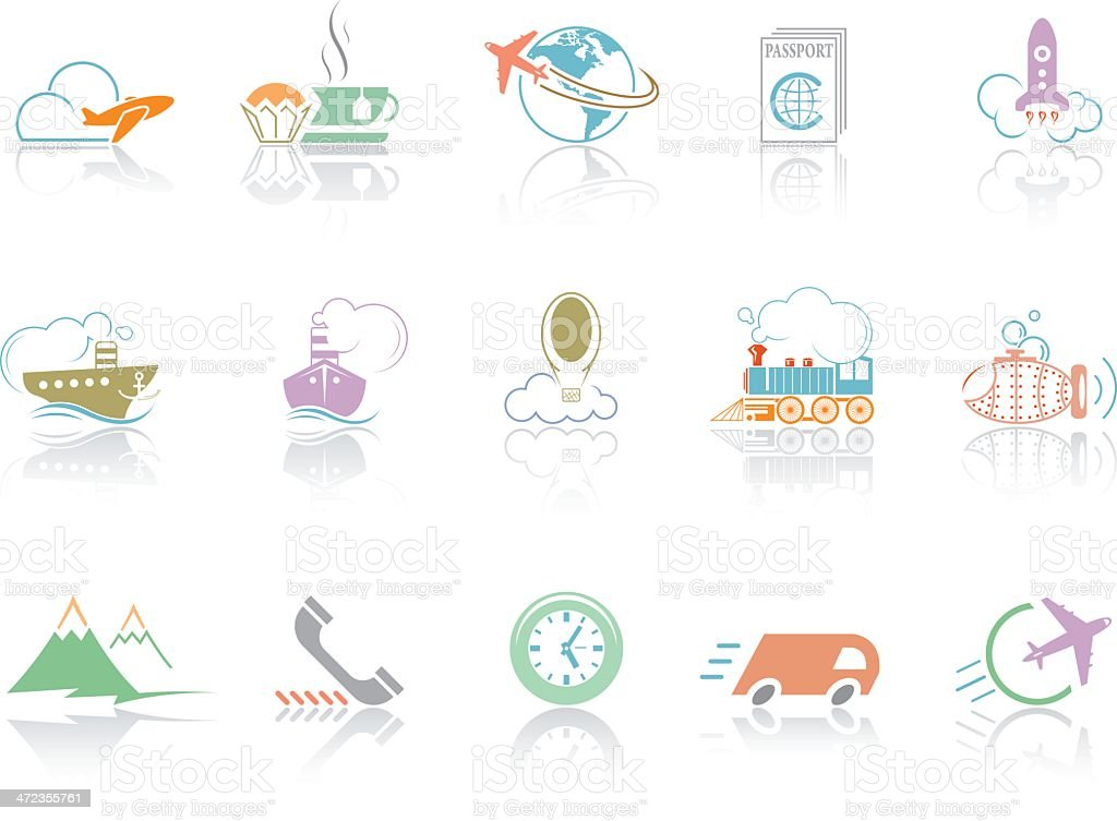 Simplecolor – Travel royalty-free stock vector art