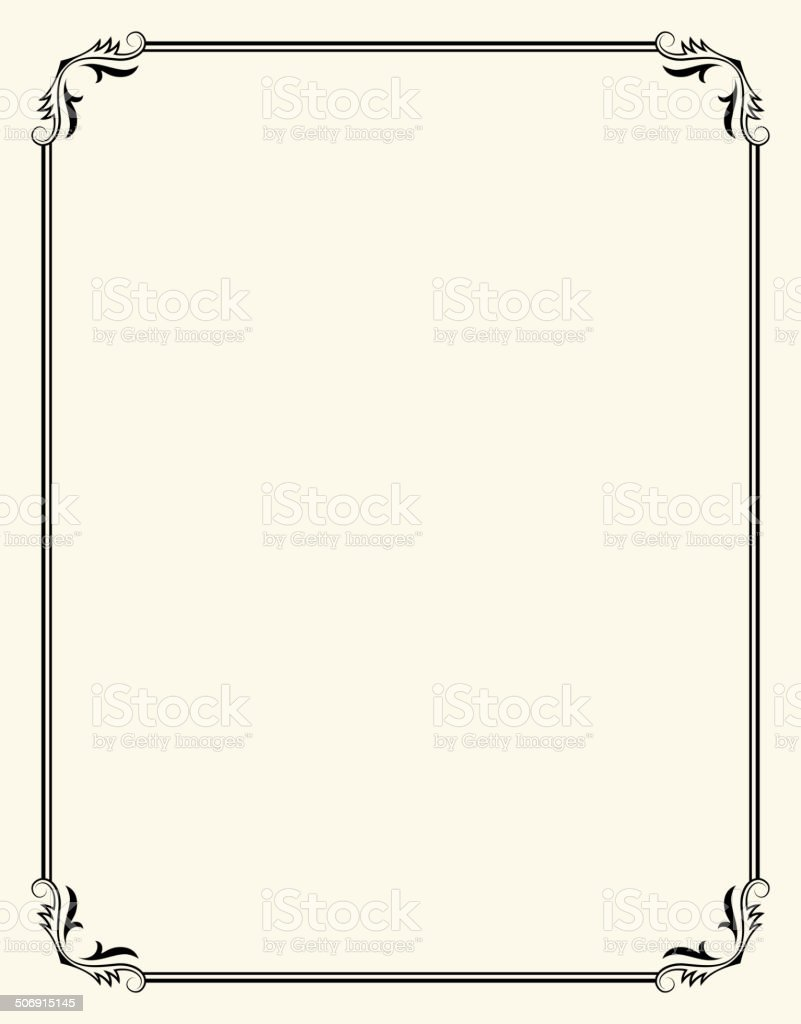 Simpleroyalty Free Vector Frame Design Graphic Stock Vector Art ...