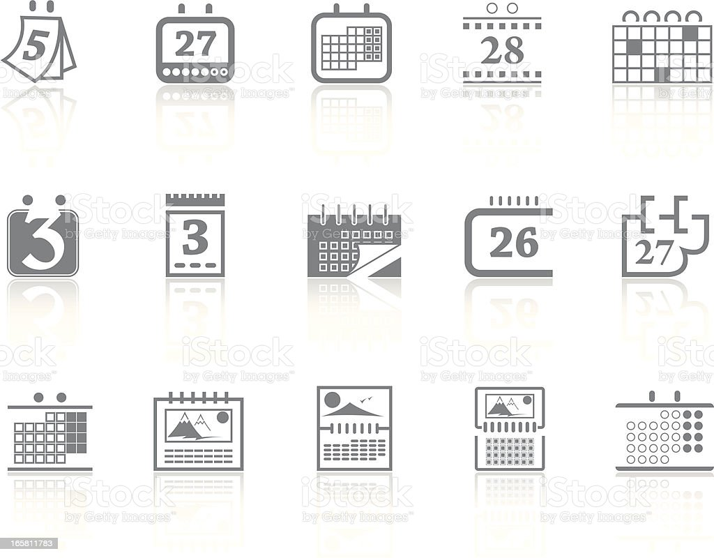 Simplicity > Calendar royalty-free stock vector art