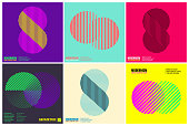 Simplicity Geometric Design Set Clean Lines and Forms In multi colors and gradient