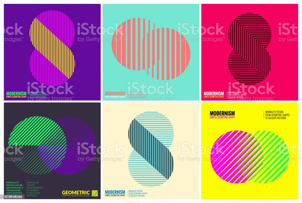 Simplicity Geometric Design Set Clean Lines and Forms vector art illustration