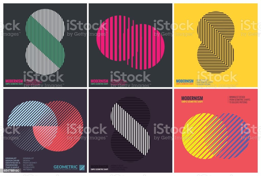 Simplicity Geometric Design vector art illustration