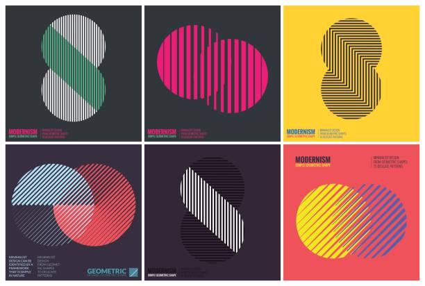 ilustrações, clipart, desenhos animados e ícones de simplicidade de desenho geométrico - templates de logotipo