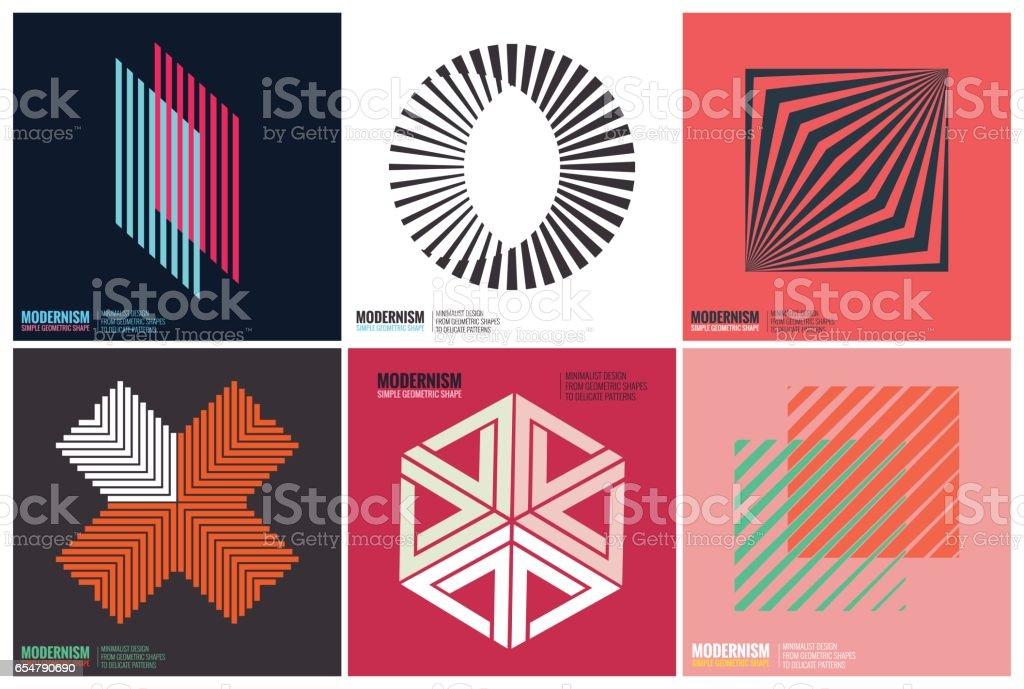 Simplicidad de diseño geométrico - ilustración de arte vectorial
